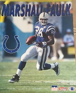 Marshall Faulk Indianapolis Colts 16x20 Starline Poster OOP