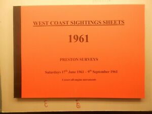 West Coast Sightings Sheets book Preston Summer Saturdays 1961