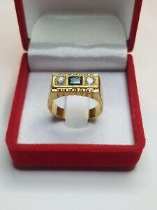 Chevalière OR 750°°° avec Saphir & Diamants