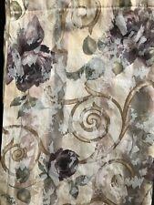 CROSCILL CHAMBORD CASSIS FABRIC SHOWER CURTAIN AMETHYST FLOWERS