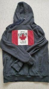 ► Camp David Pullover Canada Vintage Größe: XL Farbe: Dunkelgrau, Rot, Weiß ◄