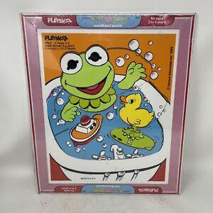 Playskool Jim Henson's Muppet Babies Baby Kermit Tray Puzzle Sealed Vintage