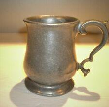 """Vtg Wilton Armetale Pewter Plough  Queen Anne Mug, Tankard, Stein 4 1/2"""" tall"""