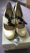 Dune Samba-ribbon tango cream high heel shoes size 6