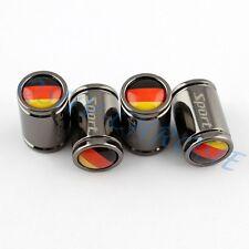 Vehicle Parts Wheels Tyre Tire Valve Caps Trim Cover For Germany Flag Titanium