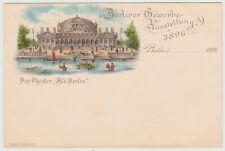 """Künstlerkarte Berlin Gewerbeausstellung 1896, Das Theater """"Alt-Berlin"""""""
