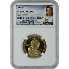 2004-S Sacagawea NGC PF70 Proof Coin John Herrington Authentic Signature