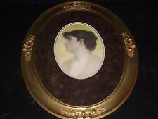 ANTIQUE PHOTOGRAVURE HAND COLORED ENGRAVING WITH AN ANTIQUE FRAME