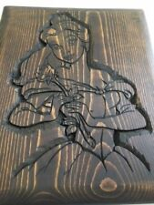 Disney Beauty And The Beast Carved Belle Plaque - Belle Hand Carved Wood Carving
