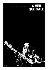 """Cuban movie Poster for""""A ver que sale"""" HENDRIX guitar.Home room wall decoration"""