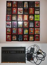 ATARI 2600 VCS WOODY CONSOLE AV MOD SCART VGC 36 GAMES ALL TESTED FREE UK POST!!