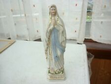 Statuette en céramique de N-D de Lourdes