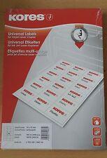 Kores Universal Etiketten 70x37 mm, Absender, Adressen Aufkleber 2400 Stk, gelb