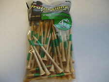 """100  Pride Professional Tee System GREEN 4"""" Pro Length Max Natural"""