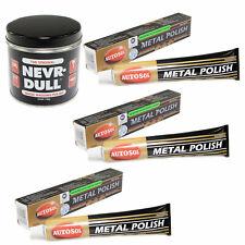 Nevr Dull Polierwatte 142g + 3x75ml Edel Chrom Metall Politur Autosol Chromglanz