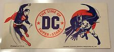 VINTAGE 1975 LINE OF DC SUPER STARS NY COMIC CON STICKER! Neal Adams Batman!