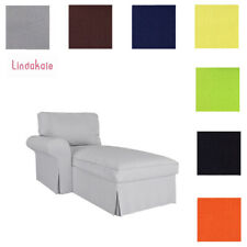 Custom Made Cover Fits IKEA Ektorp Chaise Lounge Left Cover