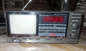 Mini TV, radio, réveil, alarme
