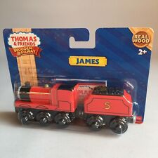 Thomas & Friends Wooden Railway JAMES with Tender Real Wood Train Y4070 NEW Rare