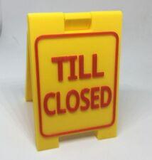 Till Closed Mini Sign - Custom Sandwich Board (small) for shop, retail store