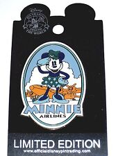 LE Disney Auctions Pin✿Minnie Mouse Airlines Pilot Retro Amelia EARheart Vintage