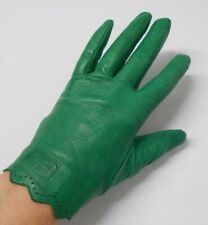 KENZO vintage gloves bright green leather M size 9