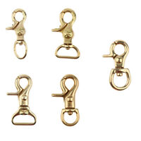 Solid Brass Lobster Clasps Bag Clip Swivel Hooks Bags Key Chains Crafts Findings