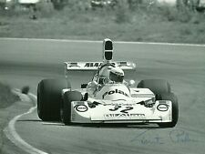 Torsten Palm F1 driver 1975 Swedish Grand Prix Hesketh 308 F1 signed photo