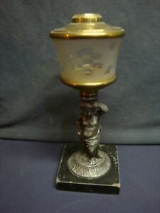 Early Figural Oil Lamp - 1865