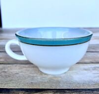 Vintage Pyrex Tea Coffee Cup Teal Turquoise Blue Aqua Milk Glass Replacement MCM