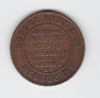 1861 TOKEN Robert HYDE & Co MELBOURNE General Marine Store Shippers Half Penny