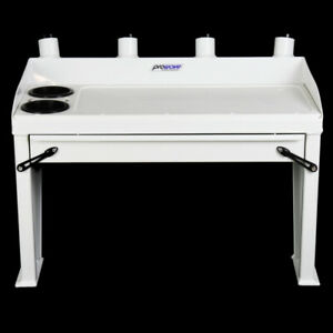 Aluminium Bait board with drawer - 920 wide - White