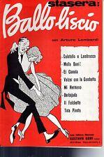 SC19 SPARTITO Stasera: Ballo liscio -Arturo Lombardi
