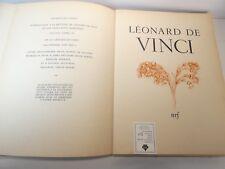 Tout l'oeuvre peint de Leonard De Vinci nrf gallimard 1950 / BEAU LIVRE
