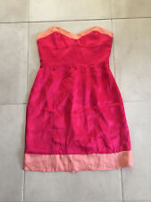 NEW Ladies NOOKIE Designer Coral Strapless Dress Size 12 NWT