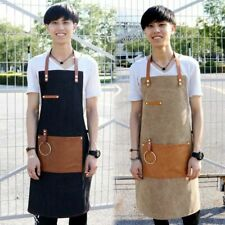 Denim Chef Apron Baker Bartender Uniform Painter Cafe Barista Bib Dress Workwear