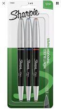 Sharpie 1758054 Grip Pens, Fine Point, Assorted Colors, 3-Count