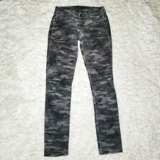 Kenneth Cole Womens Skinny Camouflage Army Green Jeans Pants Stretch Size 27
