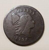 1795 Liberty Cap Half Cent No Pole F-VF