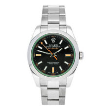 Rolex Milgauss Auto 40mm Steel Mens Oyster Bracelet Watch 116400V