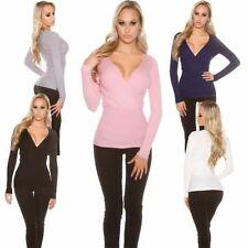 Hüftlange Damen-Pullover & -Strickware ohne Muster mit 34 Größe