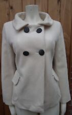 M&S Marks And Spencer Limited Collection Wool mark Blend White Jacket Coat UK 12