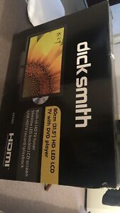 """Dick Smith 31.5"""" LED LCD TV with DVD player And Wall Bracket"""