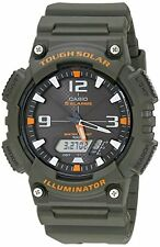 Casio AQS810W-3A Tough Solar Analog Digital Sports Watch 5 Alarms Army Green New