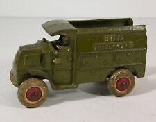 """1920s MACK C-CAB TYPE BELL TELEPHONE SERVICE TRUCK CAST IRON TOY By HUBLEY 5.25"""""""