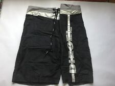 Men's Diesel Black And Silver  Swimming Shorts