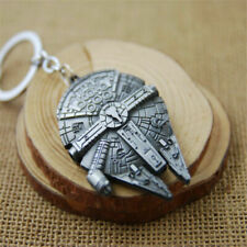 Metal Keychain Keyring Key Ring Gift Fashion Silver Star Wars Millennium Falcon