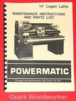 POWERMATIC 600 Blade Welder Instructions Part Manual 0531