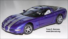 1/24 Franklin Mint Purple 2000 Corvette Platinum Power LE 500 S11E356