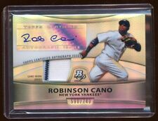 ROBINSON CANO 2010 BOWMAN PLATINUM AUTO JERSEY SWATCH /740 REFRACTOR YANKEES